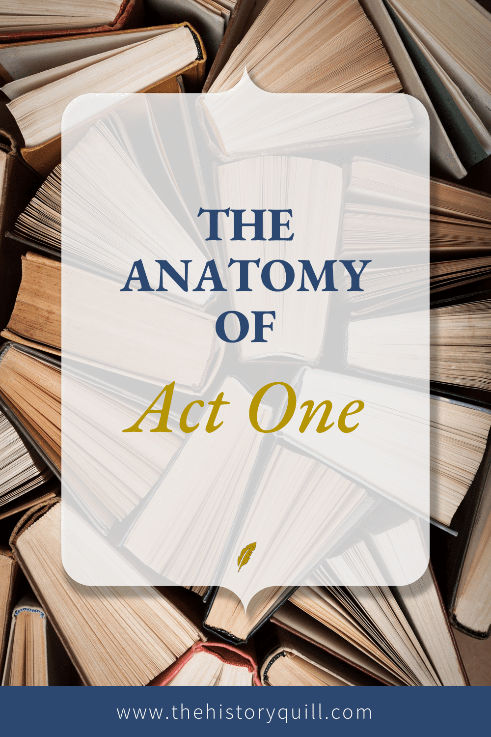 From The History Quill blog, the anatomy of Act One for your historical fiction writing