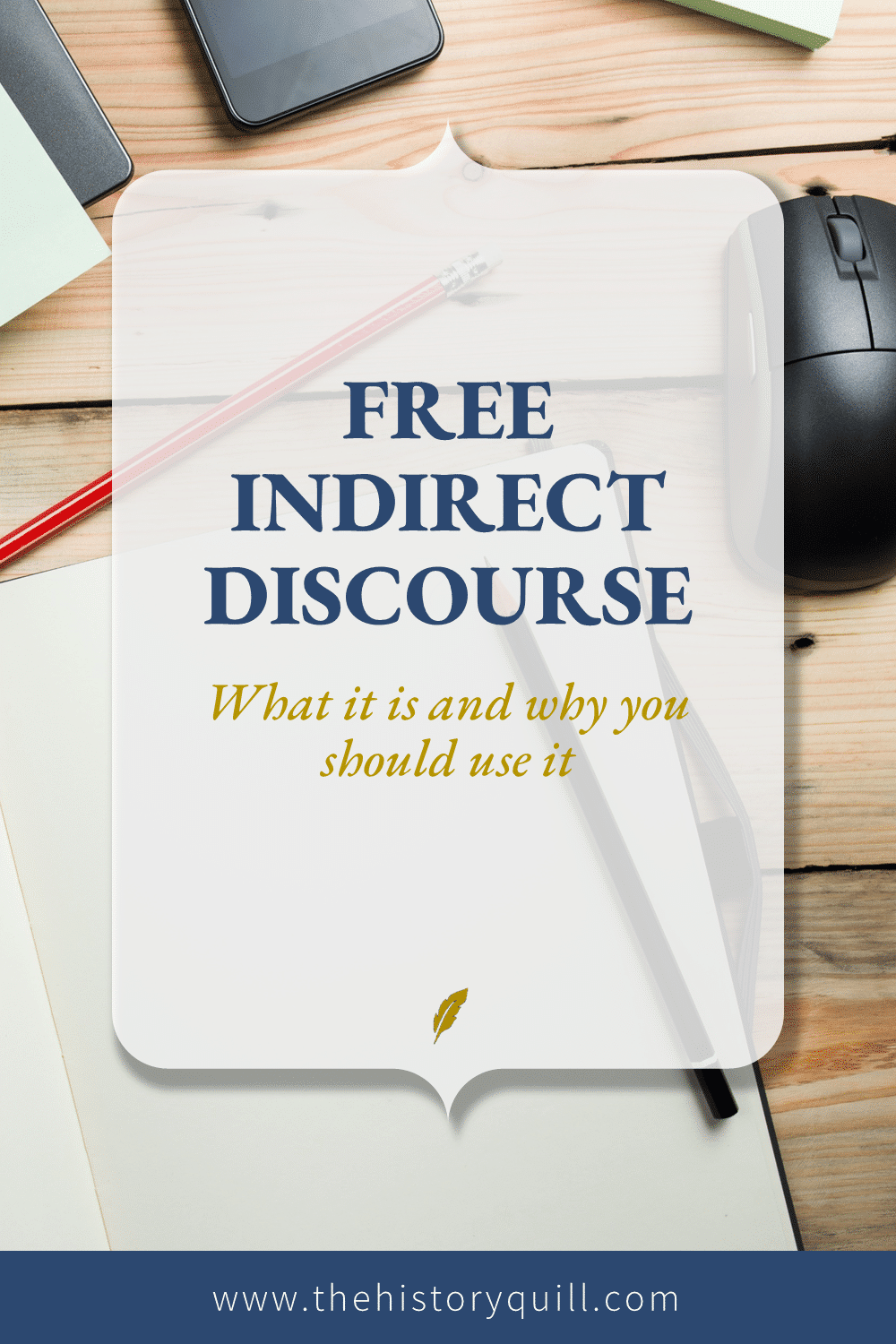 From The History Quill blog, what is indirect discourse and why should you use it in your historical fiction writing