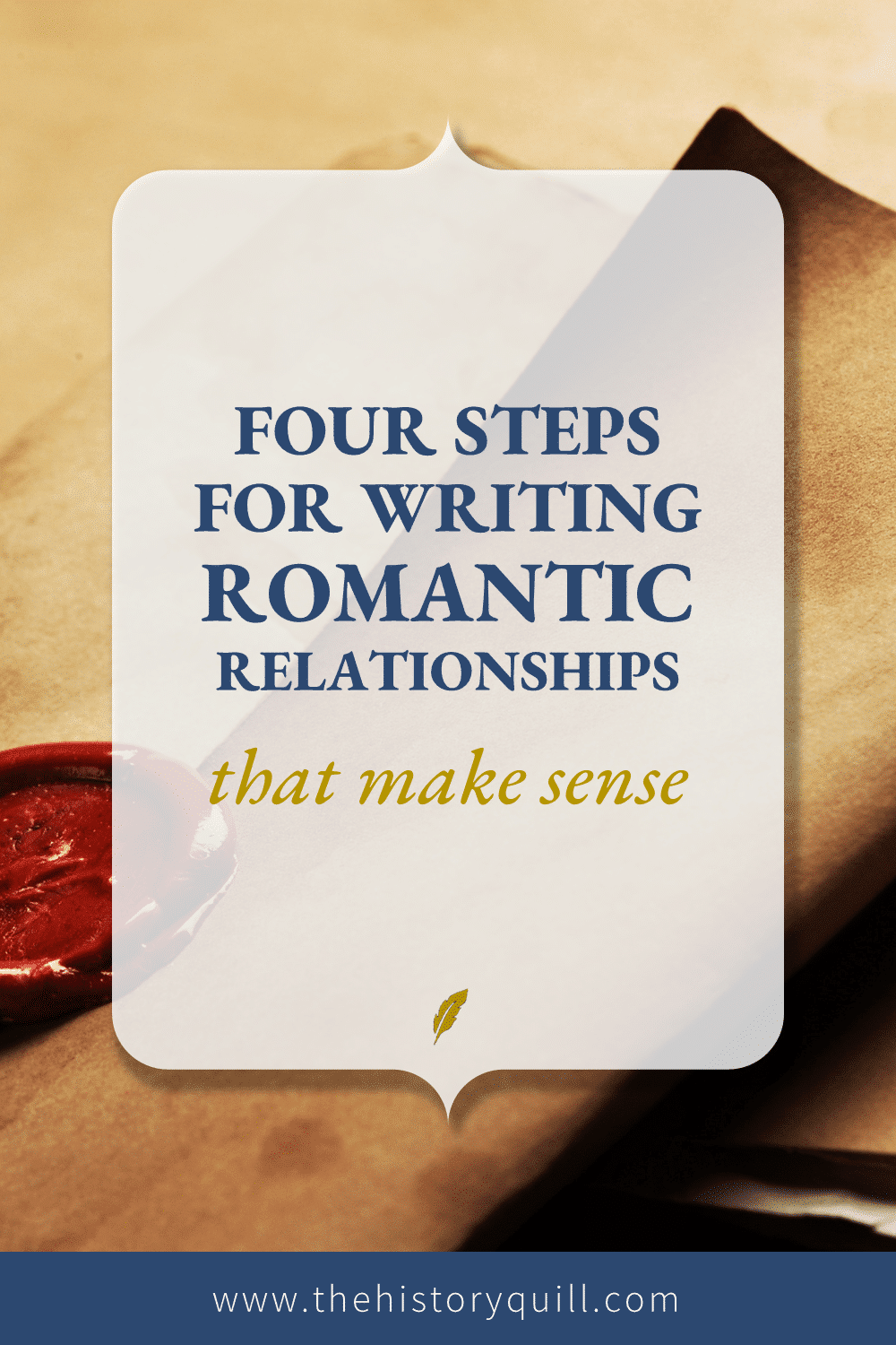 From The History Quill blog, four steps for writing romantic relationships that make sense within your historical novel.